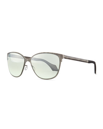 Cat-Eye Sunglasses, Gunmetal