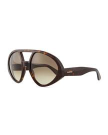 Plastic Chunky Runway Aviator Sunglasses