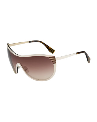 Pequin Shield Sunglasses, Ivory