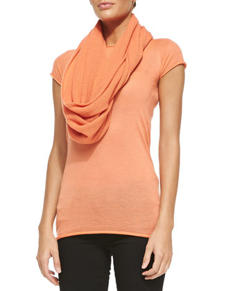 Cashmere Infinity Scarf, Melon