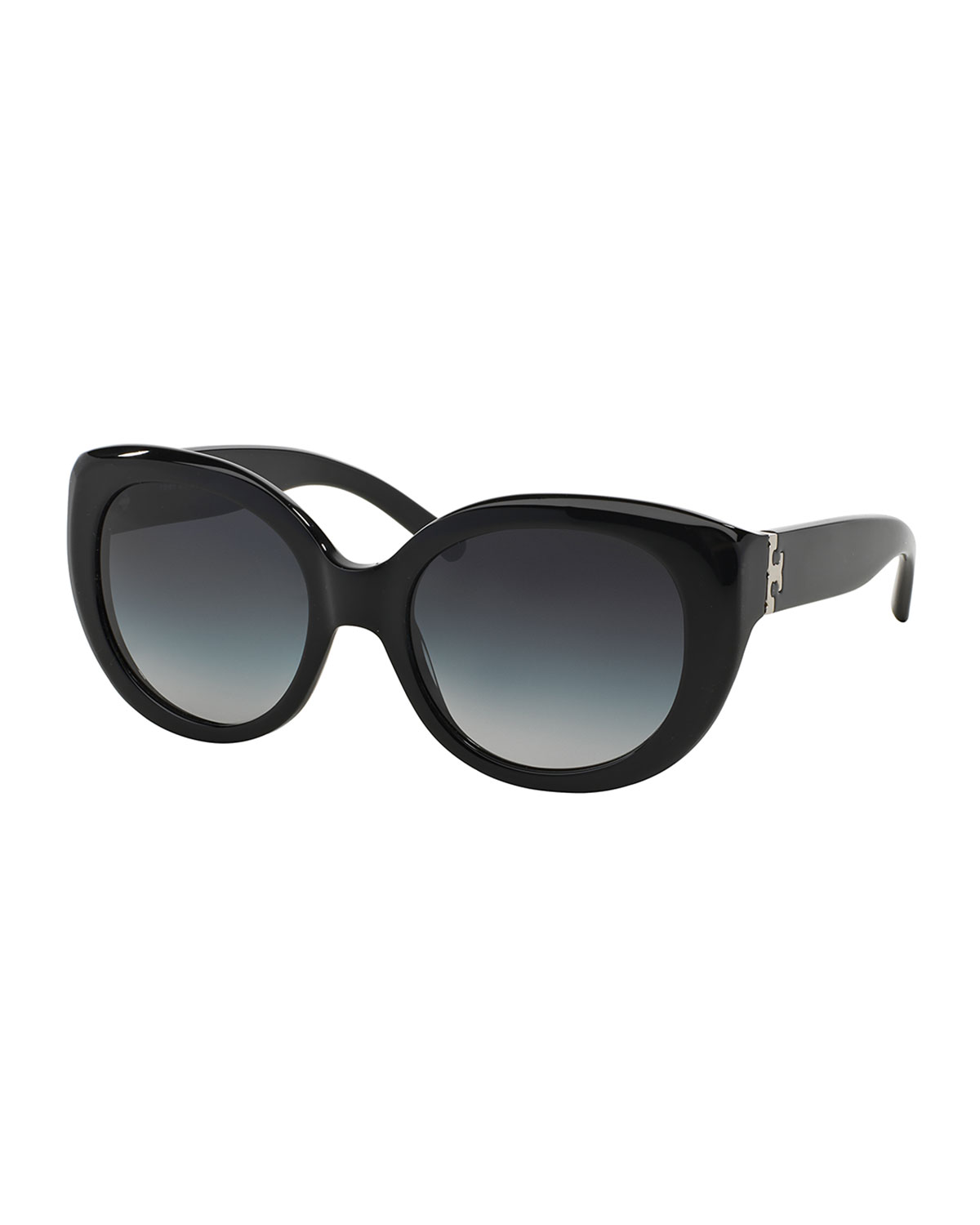 Tory Burch Plastic Cat-Eye Sunglasses, Black