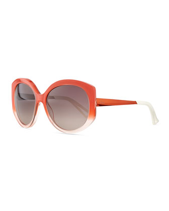 Plastic Round Sunglasses, Orange
