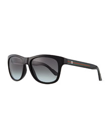 Youngster GG-Temple Sunglasses, Black