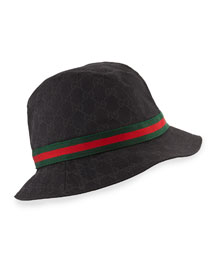 GG Canvas Fedora, Black
