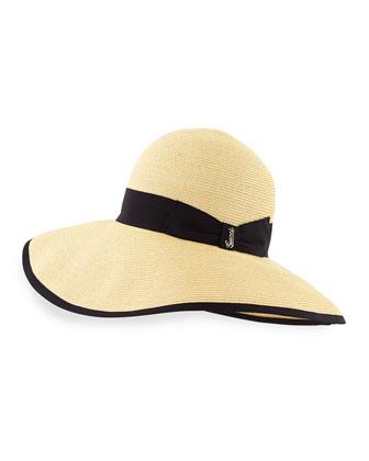 Papier Wide-Brim Hat, Navy
