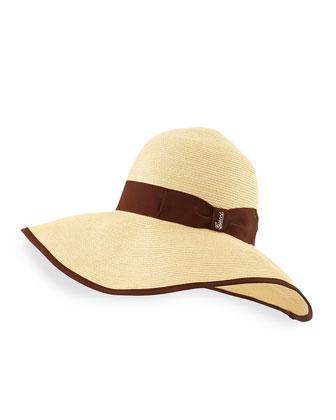 Papier Wide-Brim Hat, Tan