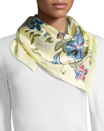 Flora Knight Foulard Scarf, Cream