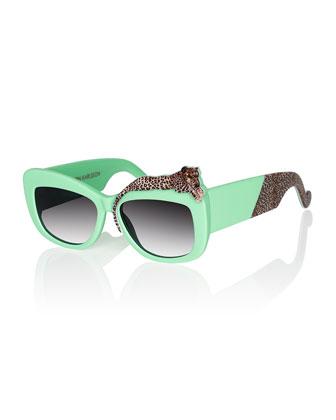 Rose Et La Mere Leopard Sunglasses