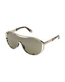 Flash Shield Sunglasses, Golden