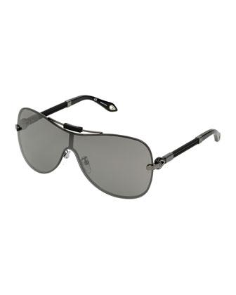 Flash Shield Sunglasses, Gunmetal