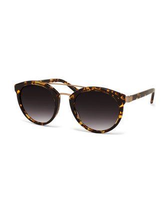 Dalziel Oval Brow-Bar Sunglasses