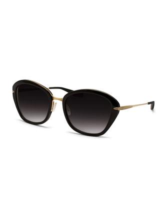 Universal Fit Farrow Butterfly Sunglasses, Black