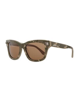 Camo-Print Sunglasses, Safari Green