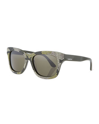 Camo-Crystal Sunglasses, Army Green