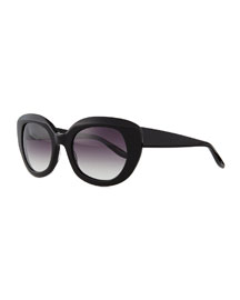 Loulou Butterfly Sunglasses, Black