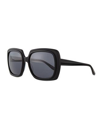 Renaissance Square Zyl Sunglasses, Black