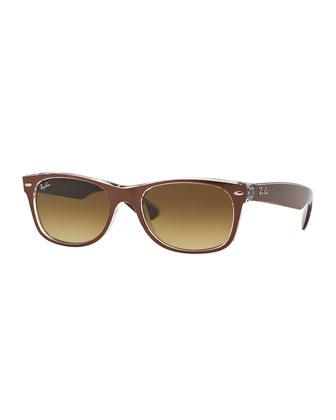 New Wayfarer Sunglasses, Brown