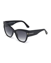 Anoushka Butterfly Sunglasses, Black