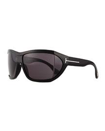 Sedgewick Wrap Sunglasses, Black