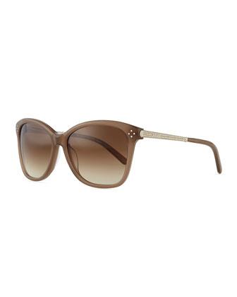 Boxwood Crystal-Arm Sunglasses, Turtledove