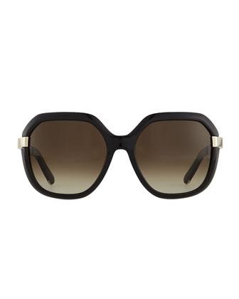 Bianca Square Sunglasses, Black