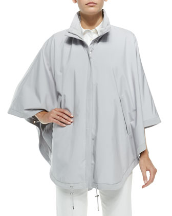 Vail Reversible Wind Storm Cape, Gray