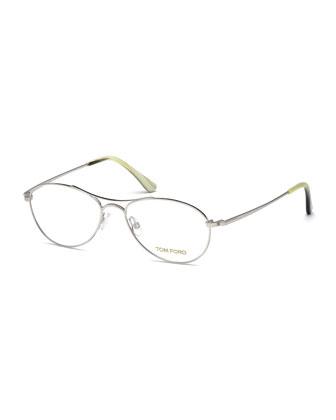 Small Aviator Fashion Glasses, Rhodium