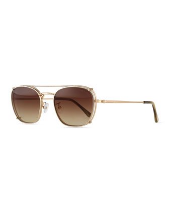 Clip-On Sun Shade, Rose Golden