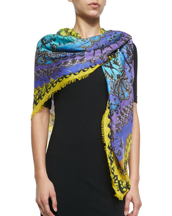 Rainbow Wings Printed Scarf