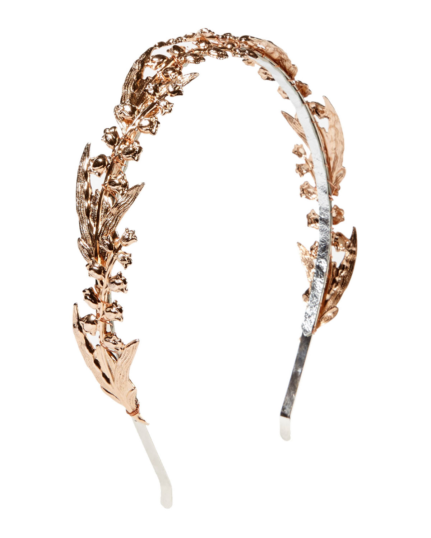 Eugenia Kim Calla Lily Cocktail Headband, Rose Gold