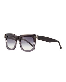 Blitz Square Sunglasses, Gray