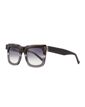 Blitz Square Sunglasses, Gray