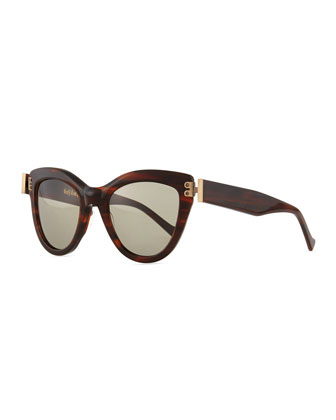 Discovery Cat-Eye Sunglasses, Tortoise