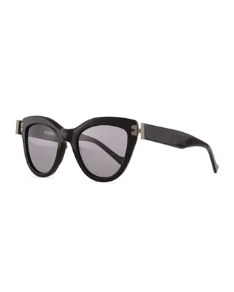 Discovery Cat-Eye Sunglasses, Black