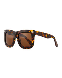 Status Thick Plastic Sunglasses, Tortoise