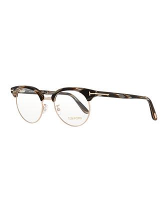 Pantos Fashion Glasses, Brown Stripes