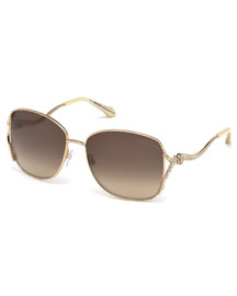 Meissa Snake-Arm Sunglasses, Golden