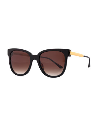 Flashy Butterfly Sunglasses, Black
