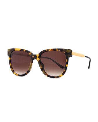 Flashy Butterfly Sunglasses, Havana