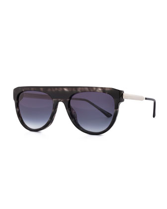 Vandaly Shield Sunglasses, Black/Gray