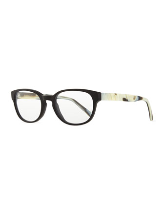 Kent Fashion Glasses, Black/White