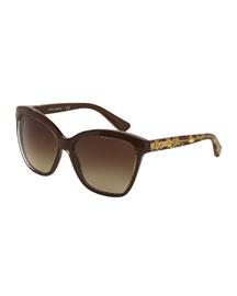 Golden Leaves Sunglasses, Brown