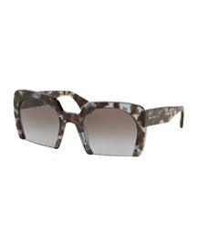 Rasoir Tortoise Cutoff Square Sunglasses