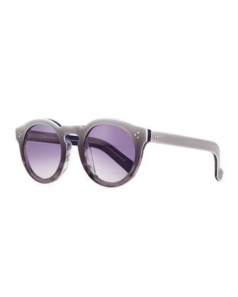 Leonard II Round Ombre Sunglasses, Purple