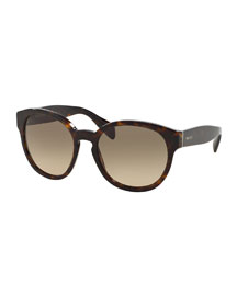 Conceptual Round Sunglasses, Havana