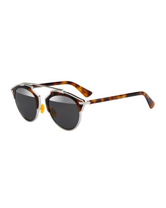 So Real Brow Bar Sunglasses, Brown