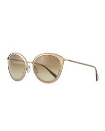 Gwynne Lens-in-Lens Mirror Sunglasses