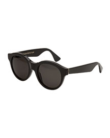 Mona Round Sunglasses, Black