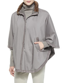 Winter Vail Reversible Wind Cape, Timber