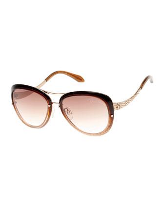 Cat-Eye Aviator Sunglasses